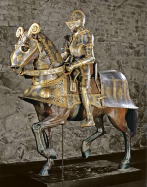 Full plate armour for man and horse commissioned by Sigismund II Augustus