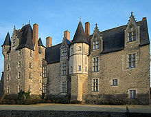 The castle of René, Duke of Anjou, in the village of Baugé, Maine-et-Loire, France.
